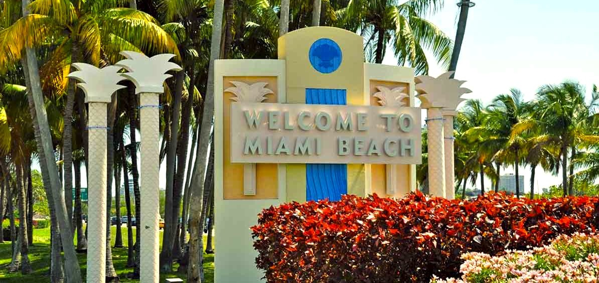 Welcome to Miami Beach sign